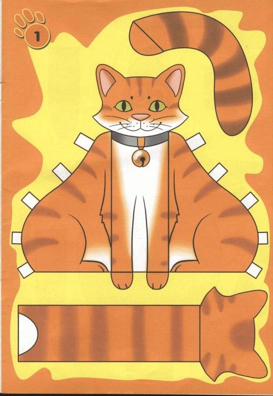 Кот поделка своими руками из бумаги